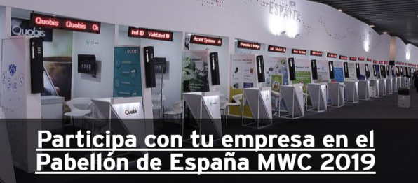 Participa con tu empresa en el Mobile World Congress 2019